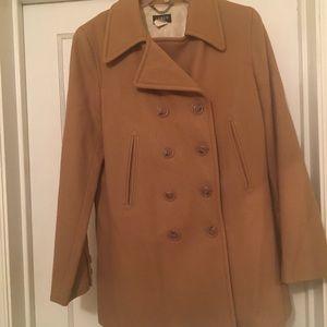 J Crew Brown Wool Coat (Medium)